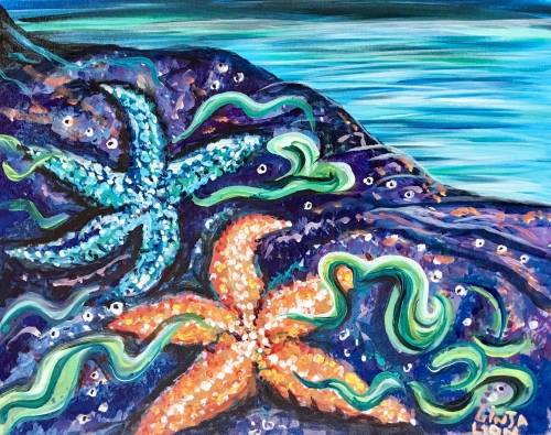 A Starfish ROCK paint nite project by Yaymaker