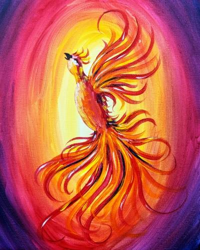 A Phoenix Rising II paint nite project by Yaymaker