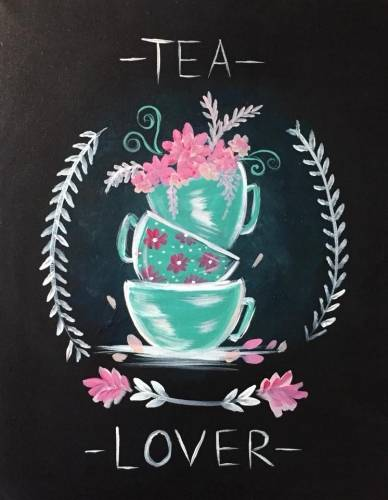 A Spring TEA LOVER paint nite project by Yaymaker
