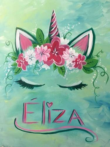A Personalized Unicorn paint nite project by Yaymaker