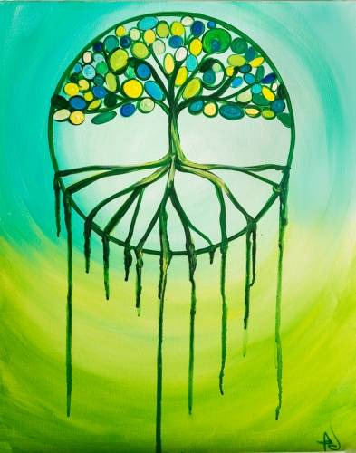 A Dream Tree paint nite project by Yaymaker