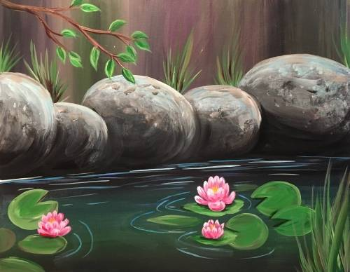 A Peaceful Pond II paint nite project by Yaymaker