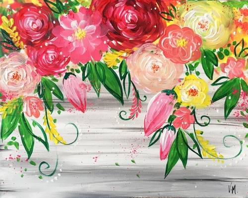 A Love Makes Everything Bloom paint nite project by Yaymaker