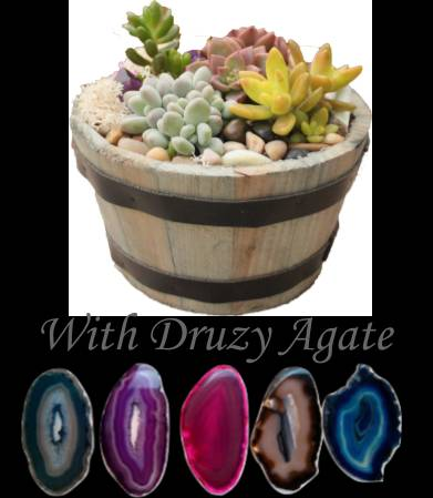 A Druzy Agate in Whiskey Barrel plant nite project by Yaymaker