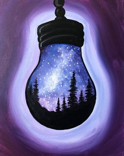 A Light up the Galaxy paint nite project by Yaymaker