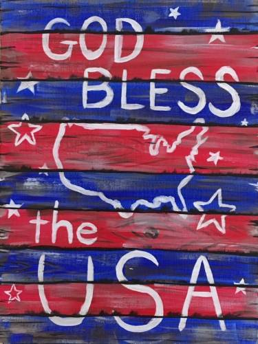 A God Bless America Sign paint nite project by Yaymaker