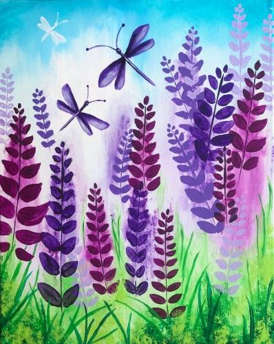 A Dragonfly Spring paint nite project by Yaymaker