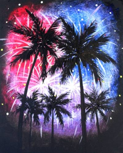 A July 4th in the Tropics paint nite project by Yaymaker
