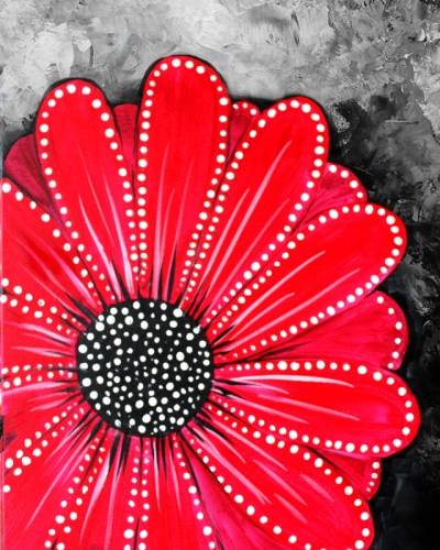 A Rivoting Red Flower paint nite project by Yaymaker