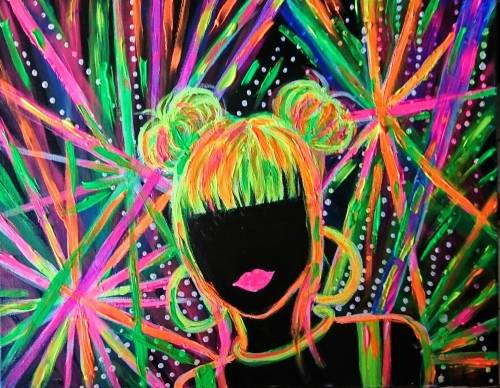A Get Some Colors On  Black Light paint nite project by Yaymaker