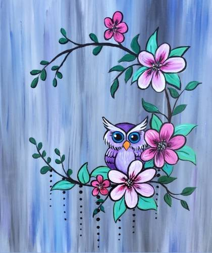 A My Little Owl paint nite project by Yaymaker