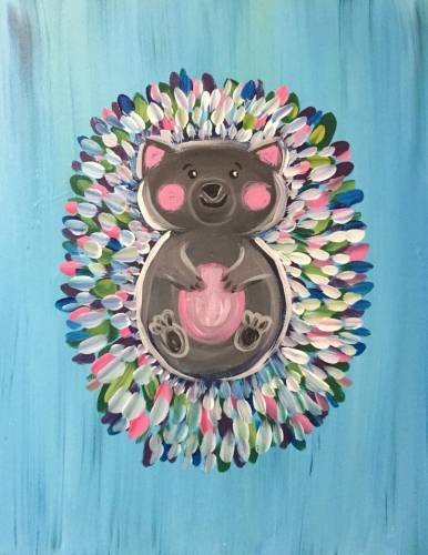 A Sweet looking hedgehog paint nite project by Yaymaker