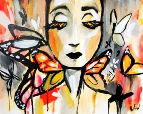 A Miss Monarch paint nite project by Yaymaker