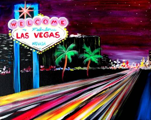 A Welcome to Vegas paint nite project by Yaymaker