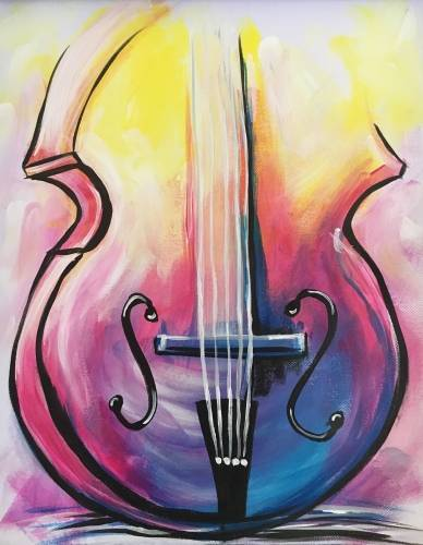 A Epic Violin paint nite project by Yaymaker