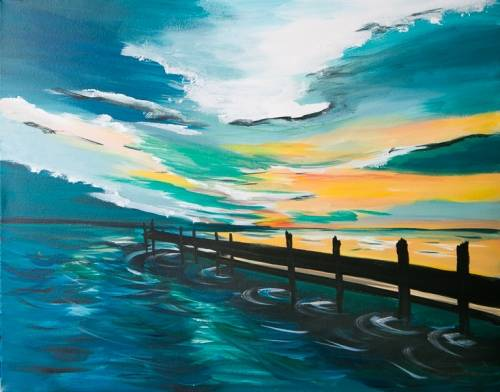 A A Dock Worth Walking paint nite project by Yaymaker