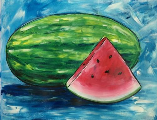 A Summer Watermelon paint nite project by Yaymaker