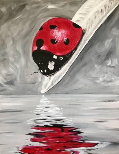 A Ladybug Reflection paint nite project by Yaymaker