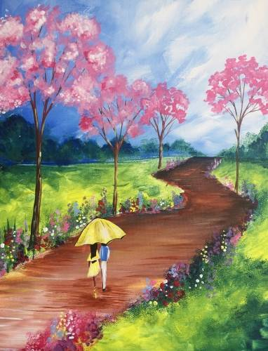 A Loving You through the Garden Trail paint nite project by Yaymaker