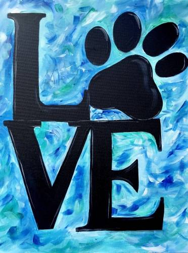 A Paw Print Love paint nite project by Yaymaker