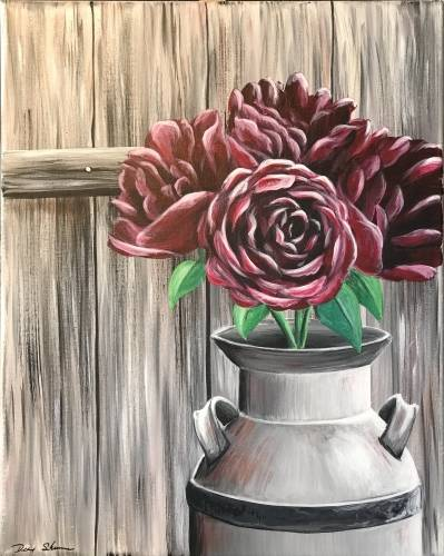 A Barnyard Bouquet paint nite project by Yaymaker