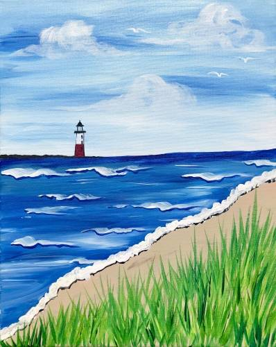 A Lighthouse on the Horizon paint nite project by Yaymaker