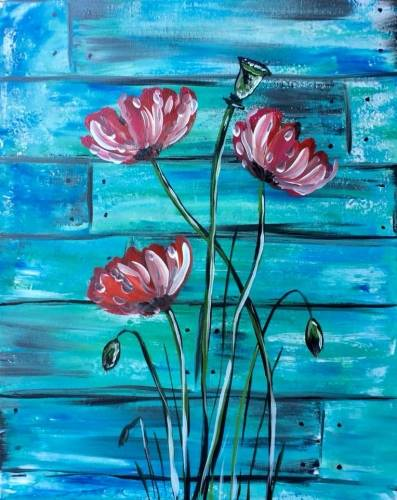 A Wild Rustic Poppies paint nite project by Yaymaker
