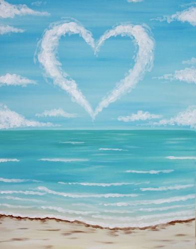 A A Heart in the Clouds paint nite project by Yaymaker