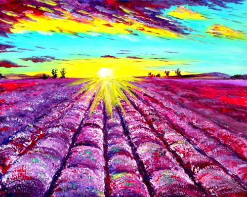 A Fields of Lavender paint nite project by Yaymaker