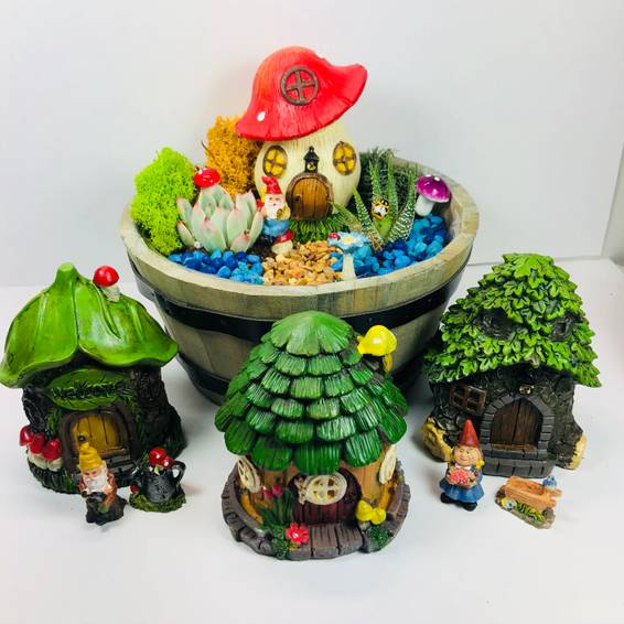 A Gnome Home Wine Barrel plant nite project by Yaymaker