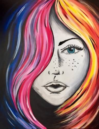 A Colourful Soul paint nite project by Yaymaker