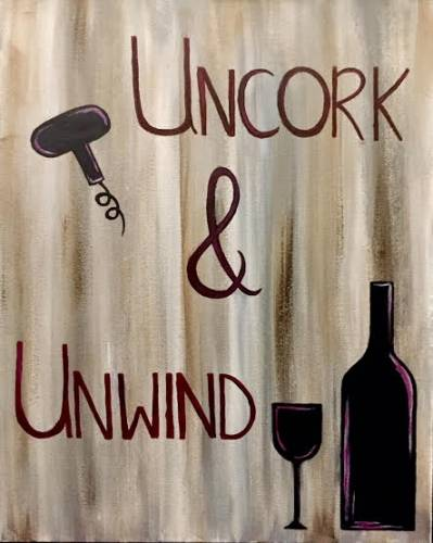 A Uncork and Unwind paint nite project by Yaymaker