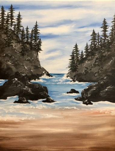 A Wilderness Cove paint nite project by Yaymaker