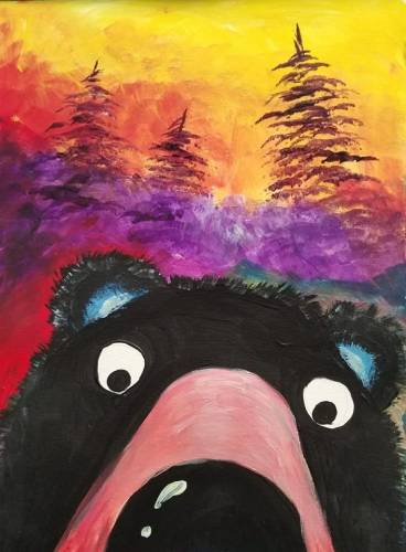 A Bearly See You paint nite project by Yaymaker