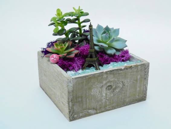 A Paris   Natural Wood Square Planter plant nite project by Yaymaker