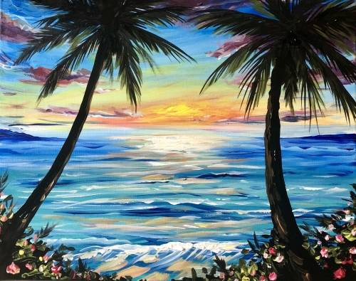 A Psyched for Summer paint nite project by Yaymaker