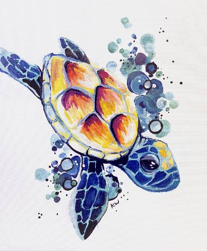 A Bubbles The Turtle paint nite project by Yaymaker