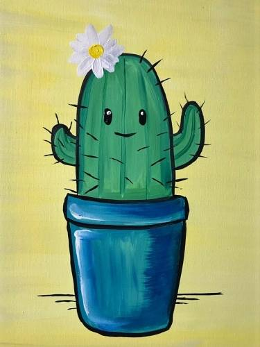 A My Cactus Friend paint nite project by Yaymaker
