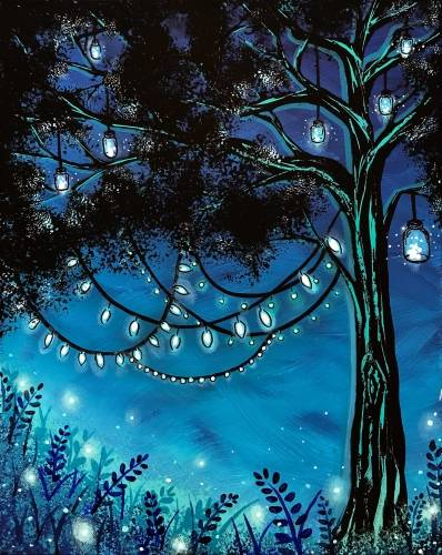 A Tree Light paint nite project by Yaymaker