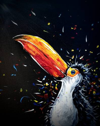 A Cool Orange Bird paint nite project by Yaymaker