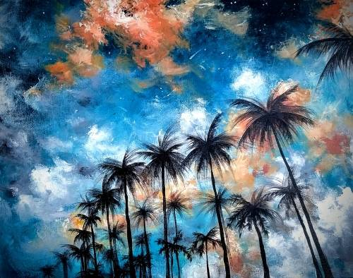A Cali Vibes paint nite project by Yaymaker
