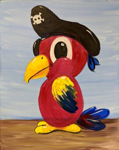 A Parrot Pirate paint nite project by Yaymaker