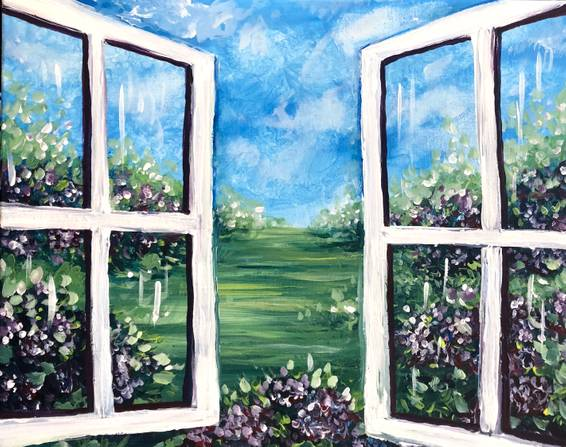A Window Into the Garden paint nite project by Yaymaker