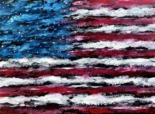 A American Galaxy paint nite project by Yaymaker