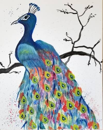 A Pretty In Peacock paint nite project by Yaymaker