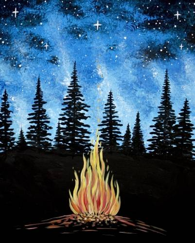 A Campfire Galaxy paint nite project by Yaymaker
