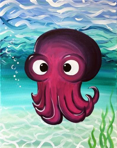 A Ollie the Octopus paint nite project by Yaymaker