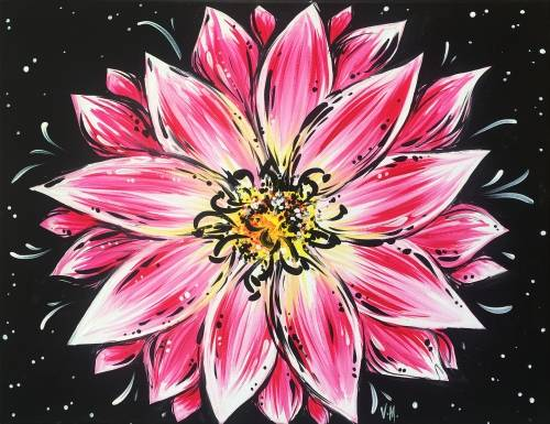A Beautifully Blooming Flower paint nite project by Yaymaker