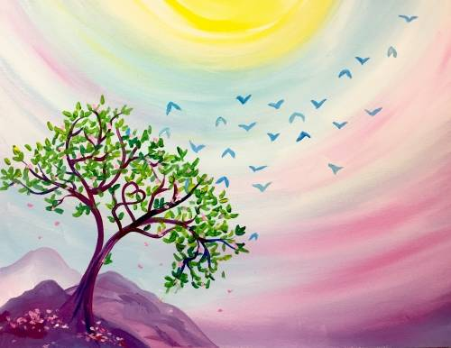 A Into the Dawn paint nite project by Yaymaker