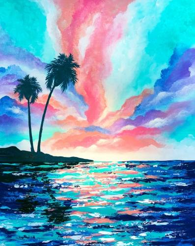 A Sunkissed Sunset paint nite project by Yaymaker